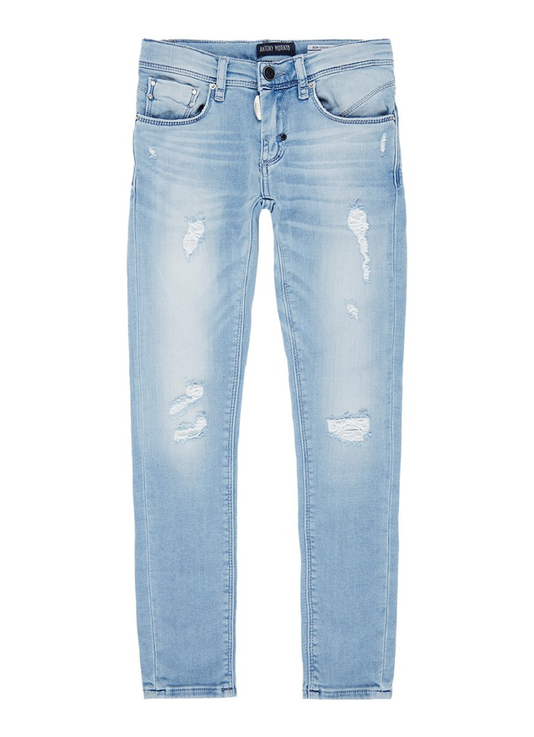 Antony Morato Giovanni super skinny fit jeans met destroyed detail