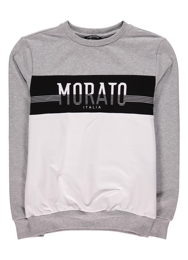 Antony Morato Sweater met colour blocking en logoprint