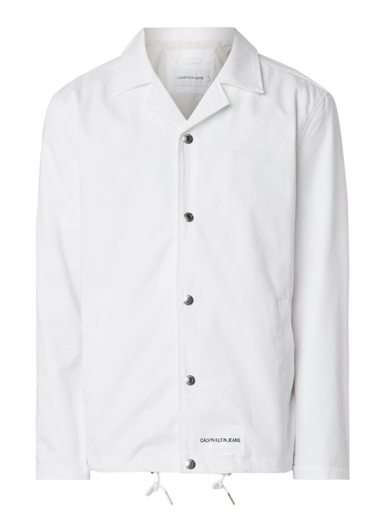 Calvin Klein Institutional jack van katoen met logoprint