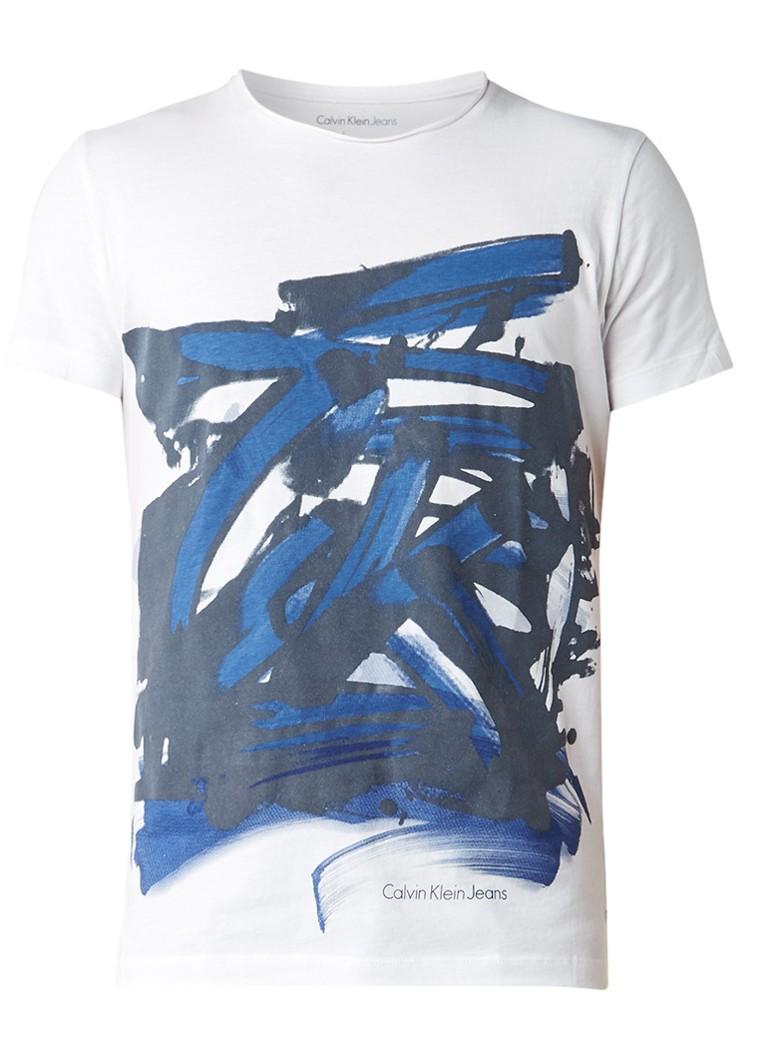 Calvin Klein T-shirt met abstracte print