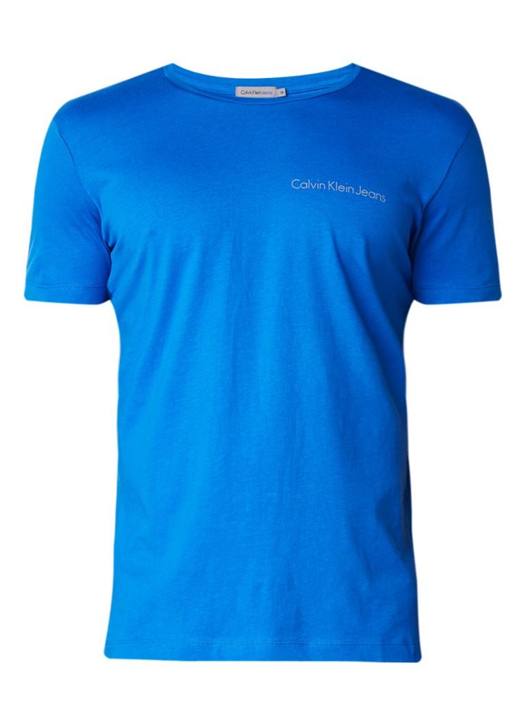 Polo s en T shirts Calvin Klein Typoko T shirt met logoprint Aquablauw