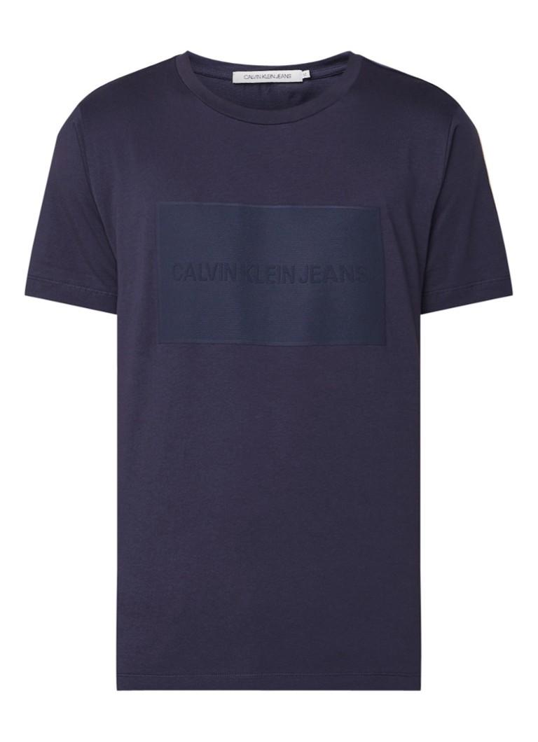 Calvin Klein T-shirt met getextureerde logoprint