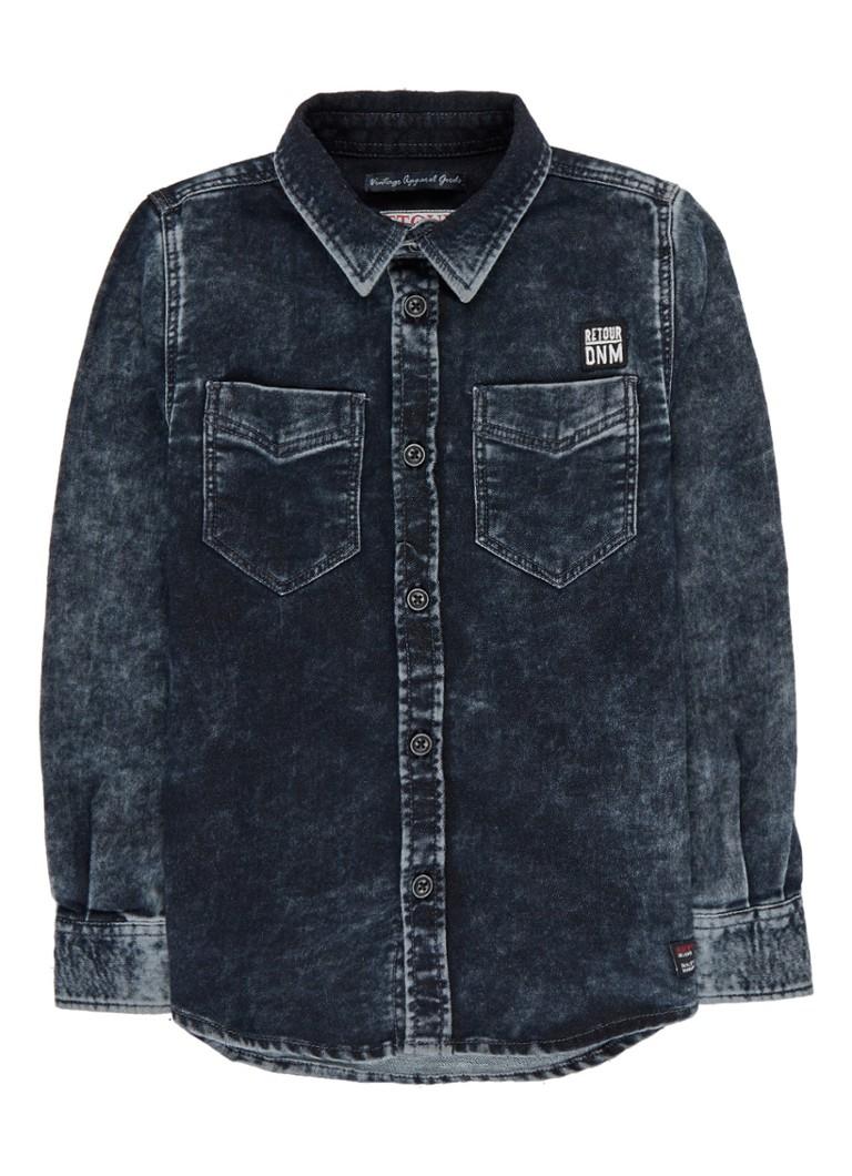 Retour Jeans Sjors overhemd van joggjeans met faded look