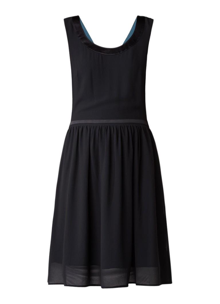 Dept A-lijn jurk met gekruiste banden zwart