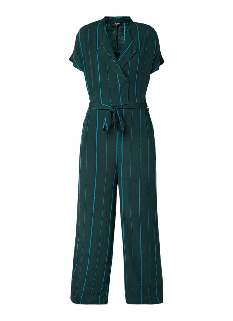 Selected Femme Luane loose fit jumpsuit met streepdessin