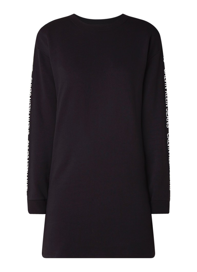 Calvin Klein Institutional sweaterjurk met logotape