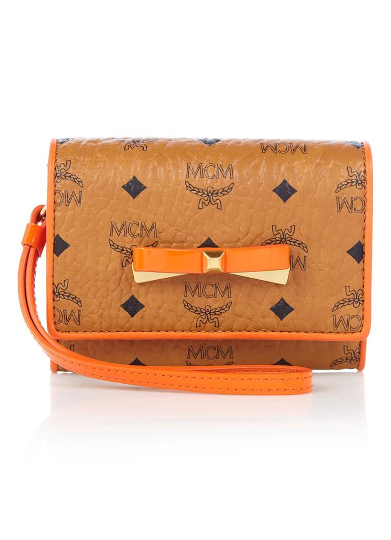 MCM Mina Visetos portemonnee met logoprint