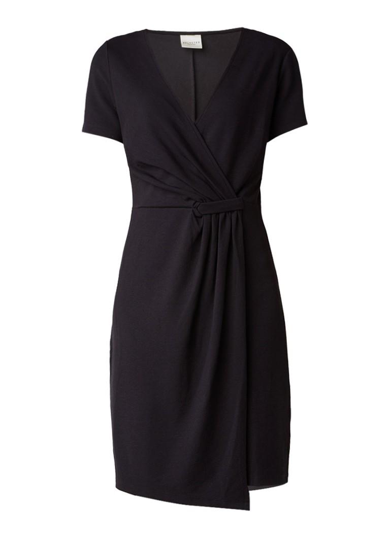 Selected Femme Dinga overslagjurk van stretchjersey zwart