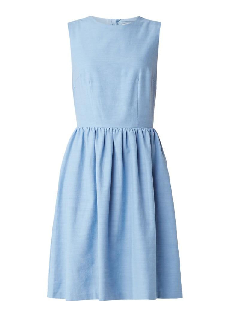Selected Femme Evelyn mouwloze A-lijn jurk met keyhole lichtblauw