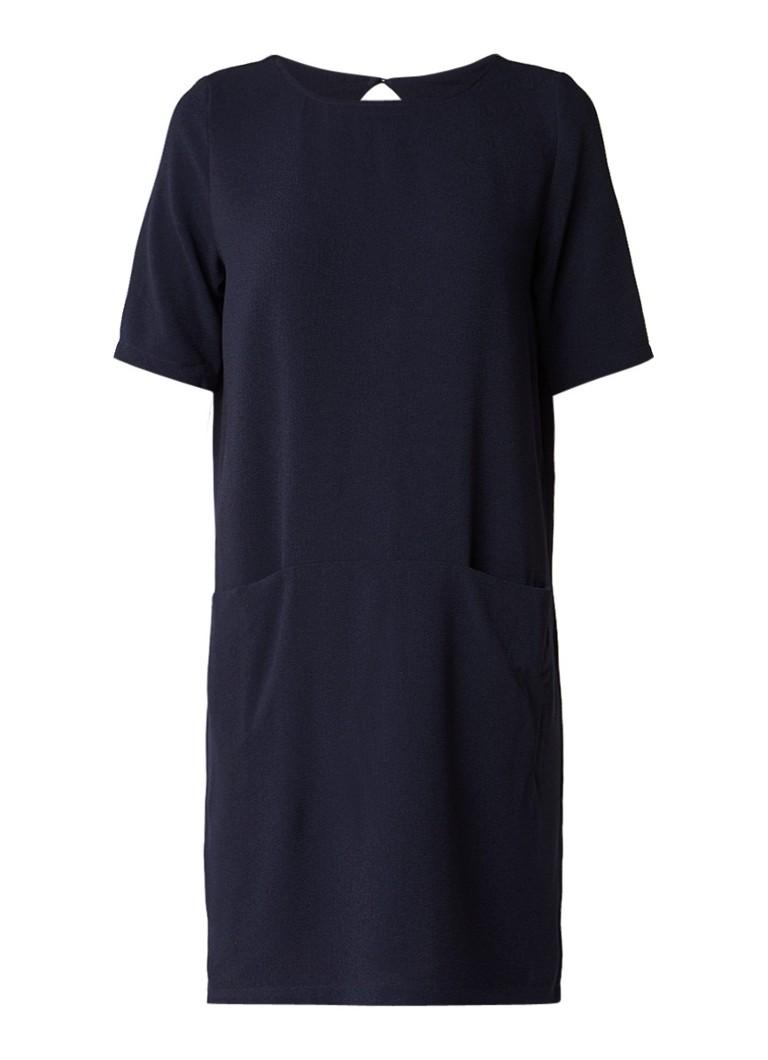 Selected Femme Fahara tuniekjurk met steekzakken donkerblauw