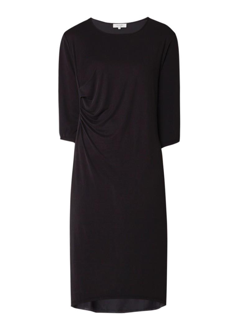 Selected Femme Nola tuniekjurk met aangerimpeld detail zwart