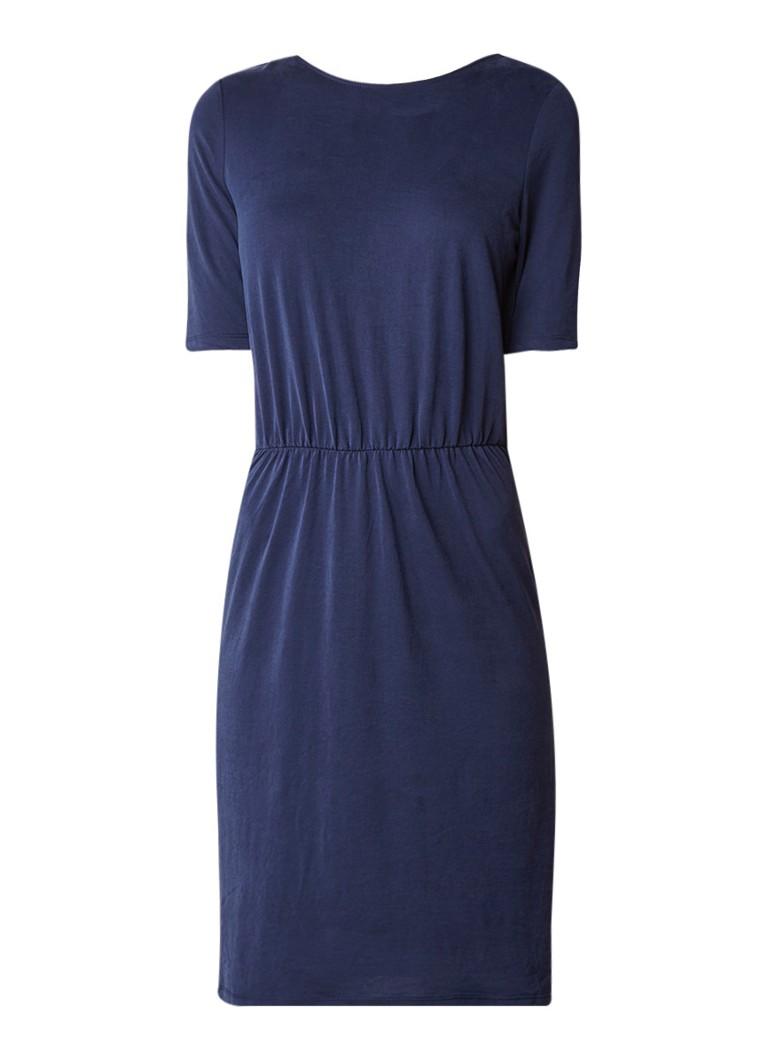 Selected Femme Sinda tuniekjurk met overslag op de rug donkerblauw