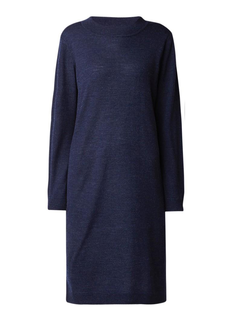 Selected Femme Eileen fijngebreide jurk in wolblend indigo