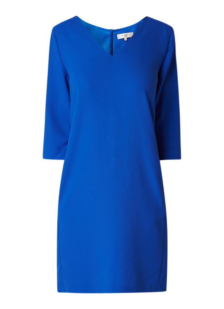 Selected Femme Tunni loose fit midi-jurk met steekzak royalblauw