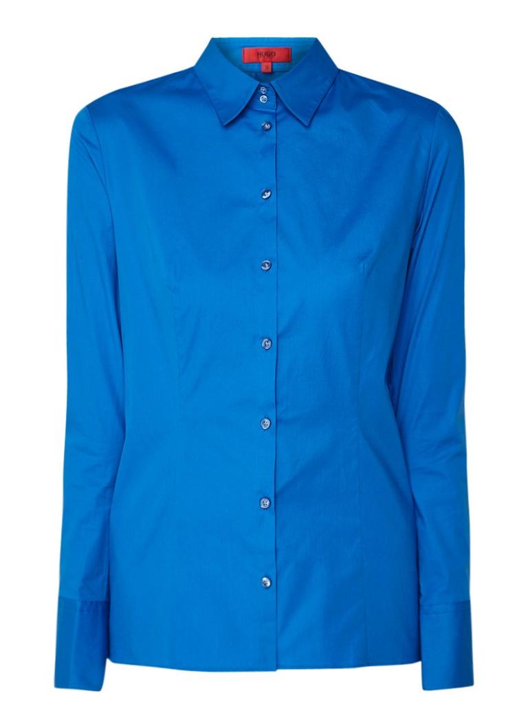 HUGO BOSS Etrixe getailleerde blouse van stretchkatoen