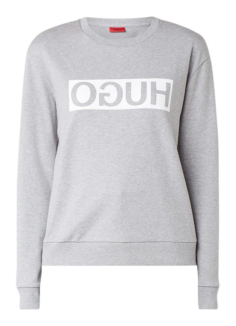 HUGO BOSS Nicci sweater met gespiegelde logoprint