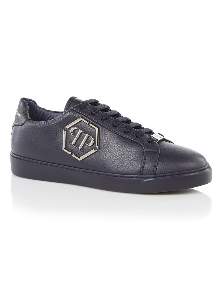 Philipp Plein Over the top sneaker met logo applicatie