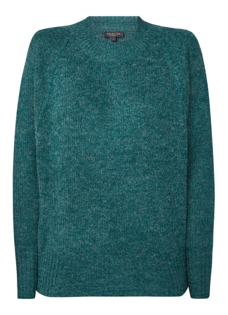 Image of Selected Femme Fijngebreide pullover in wolblend