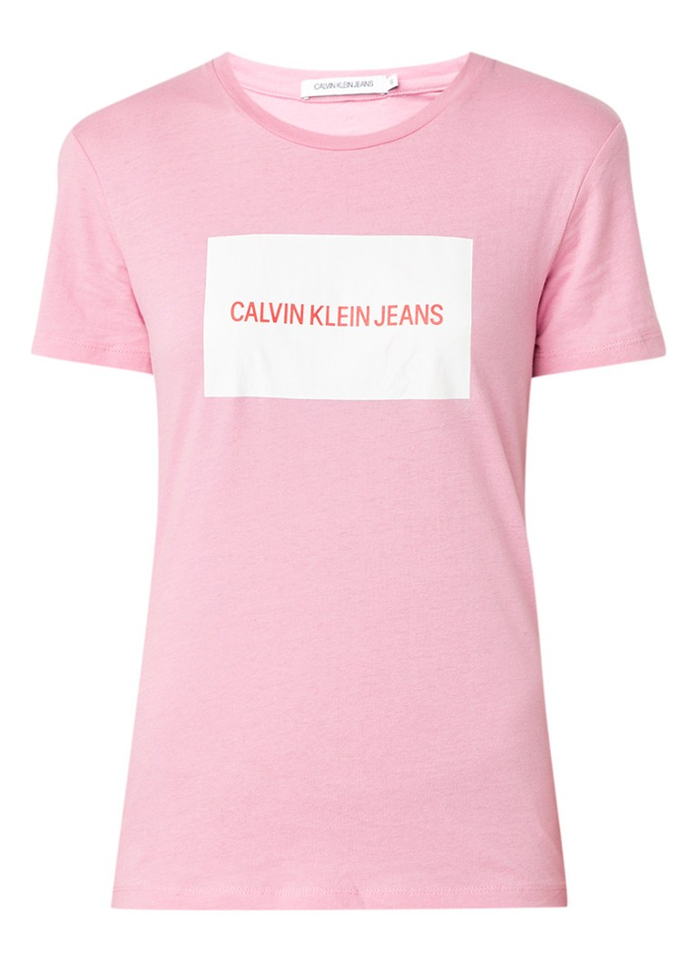 Calvin Klein Institutional Box T-shirt met logoprint