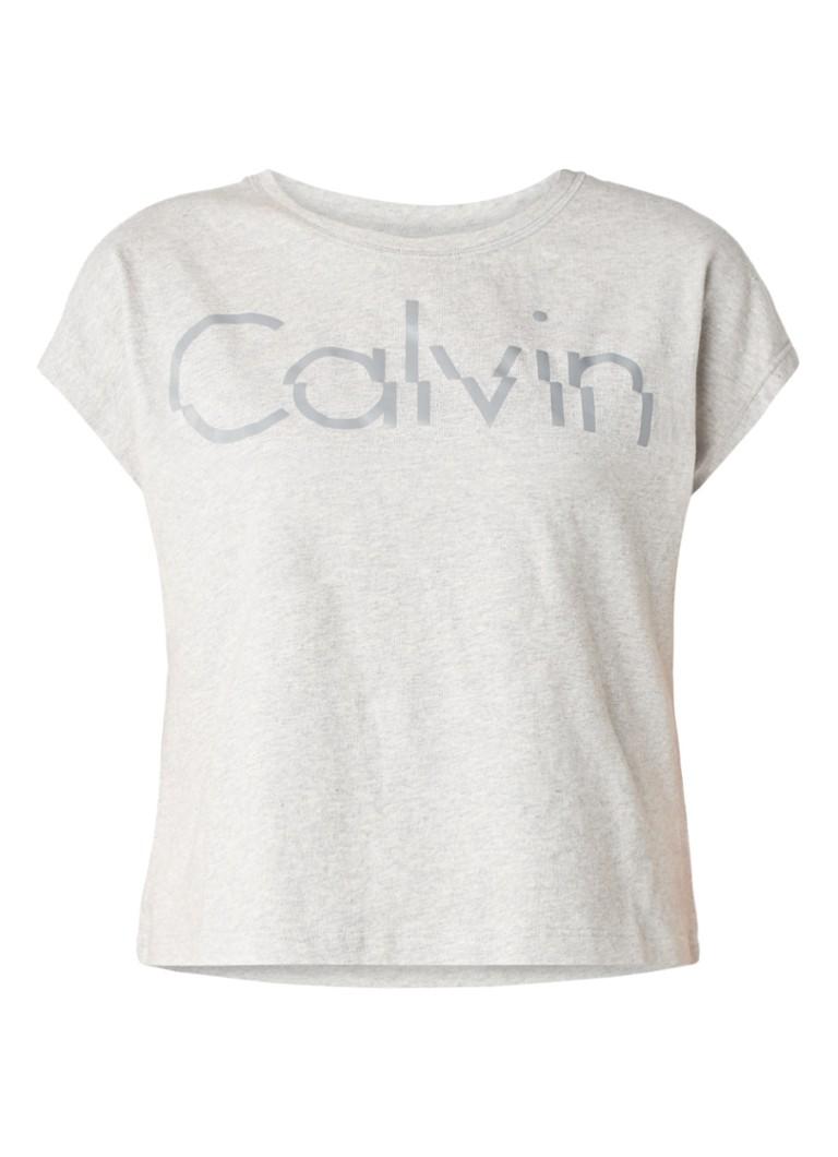 Calvin Klein Taka cropped T-shirt met logoprint