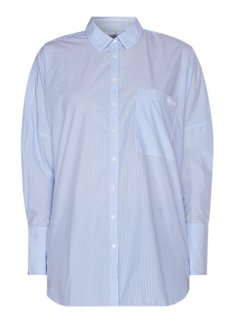Calvin Klein Wiva oversized blouse van katoen met streepdessin