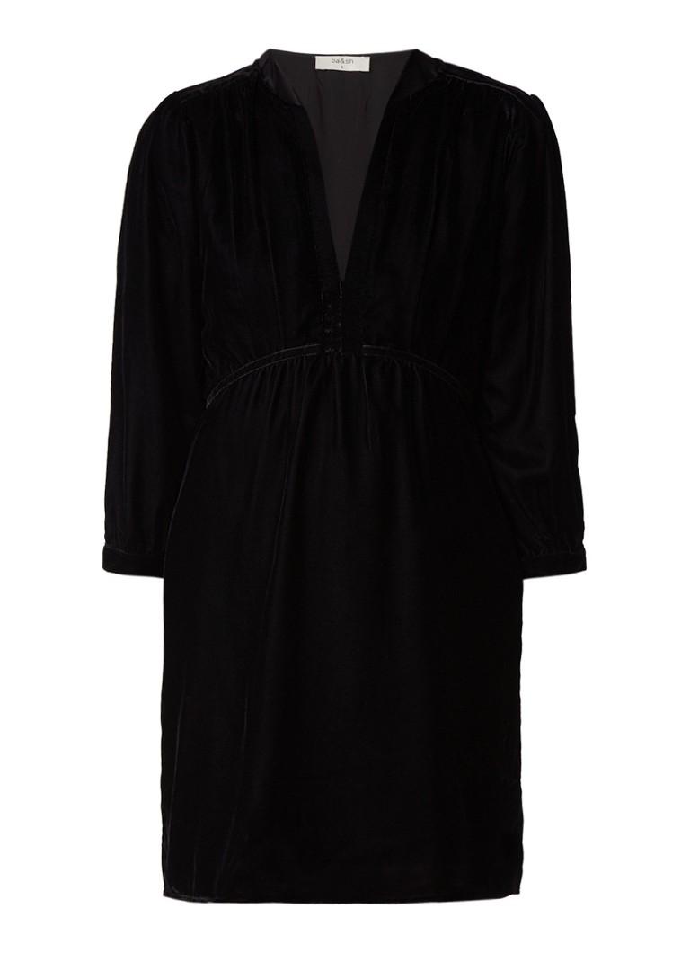 BA&SH Reve A-lijn jurk van fluweel zwart