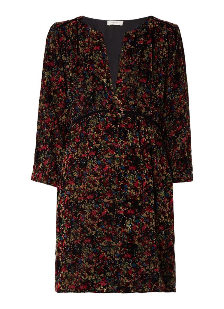 BA&SH Ireve A-lijn jurk van fluweel bordeauxrood