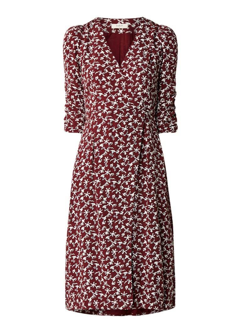 BA&SH Coachella midi-jurk met overslag en gebloemd dessin flessengroen