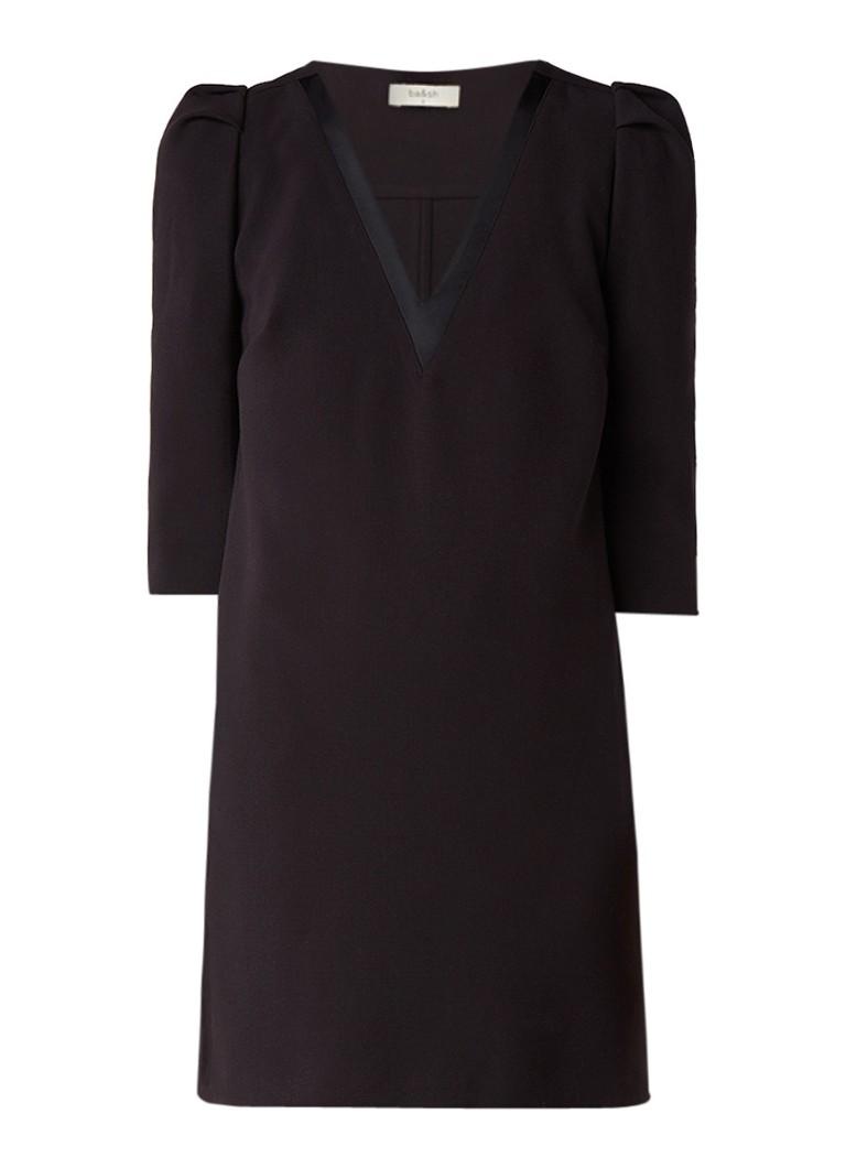 BA&SH Today mini-jurk met pofmouw zwart