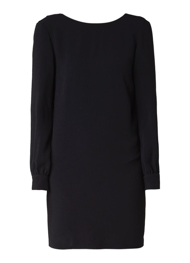 BA&SH Celest mini jurk met lage rug en strik donkergroen