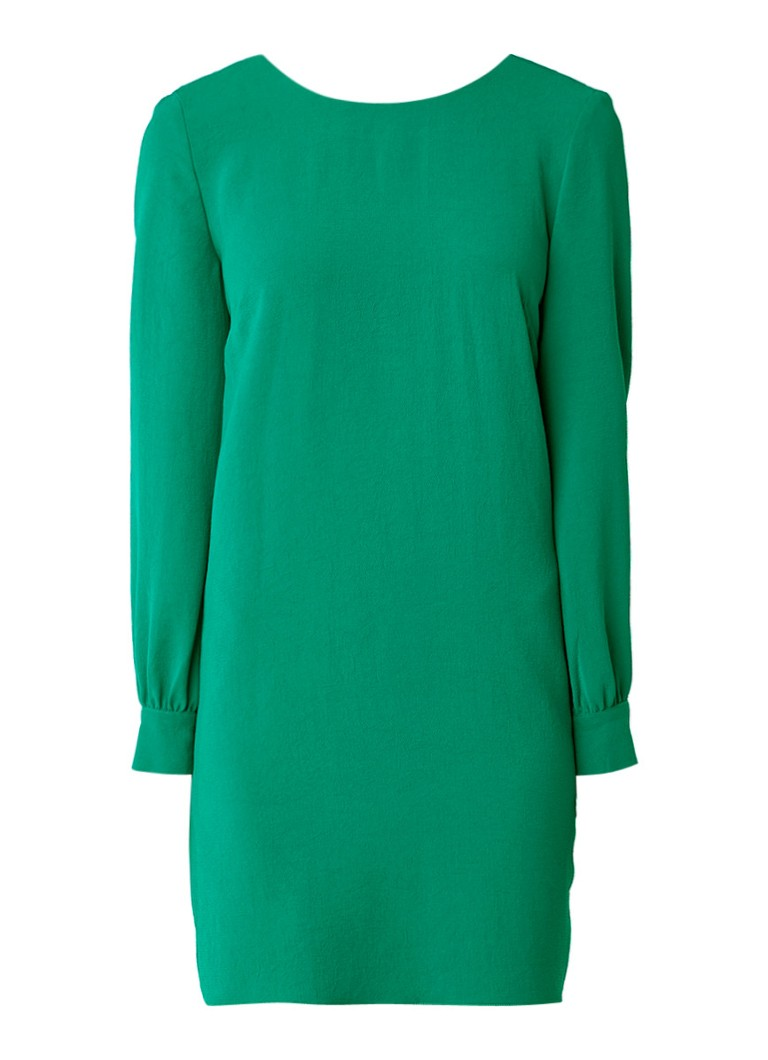 BA&SH Celest mini jurk met lage rug en strik zwart