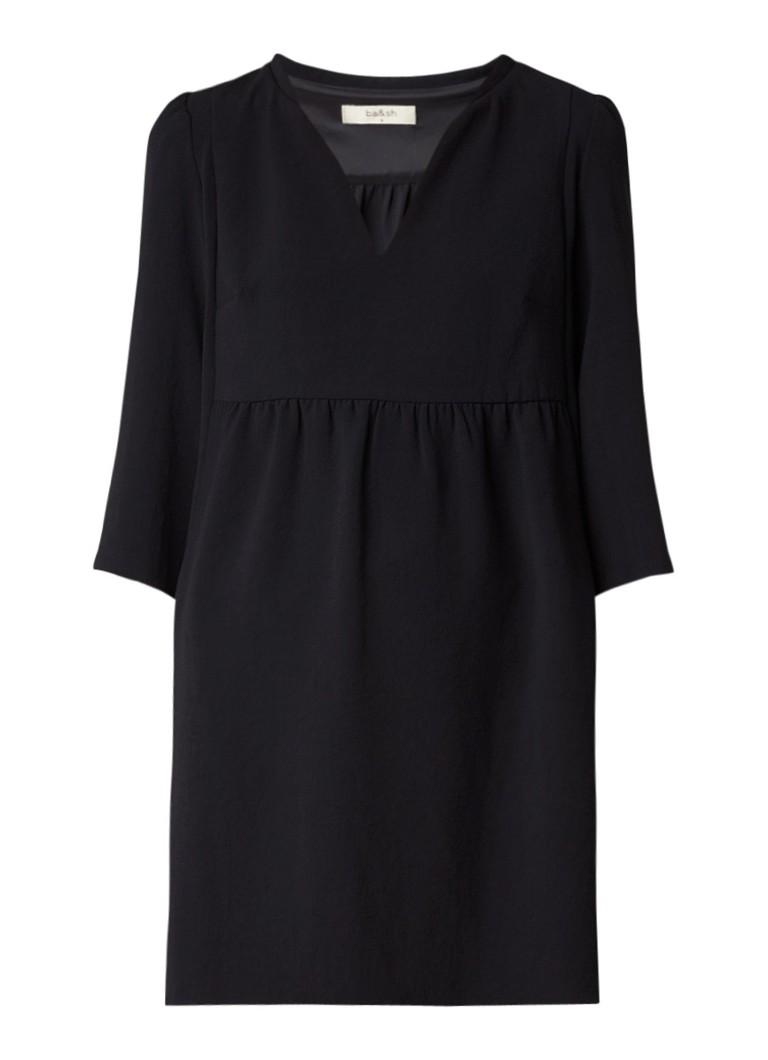 BA&SH Clyde babydoll mini-jurk met V-hals zwart