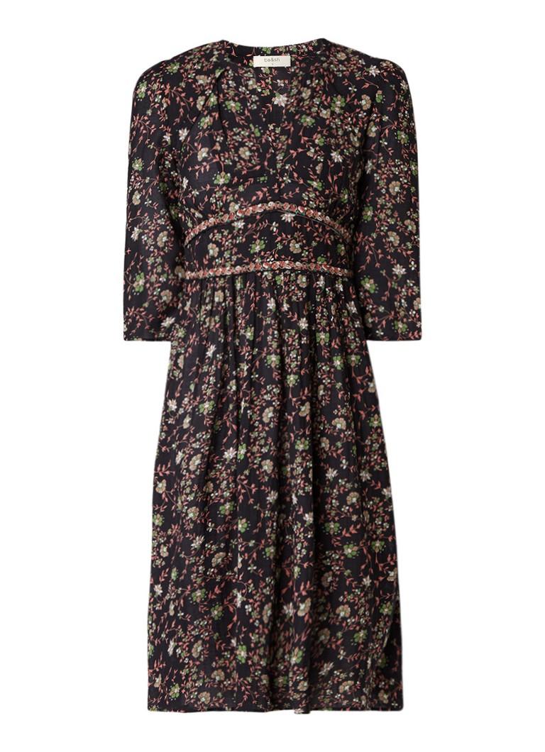 BA&SH Festina A-lijn jurk met bloemendessin roze