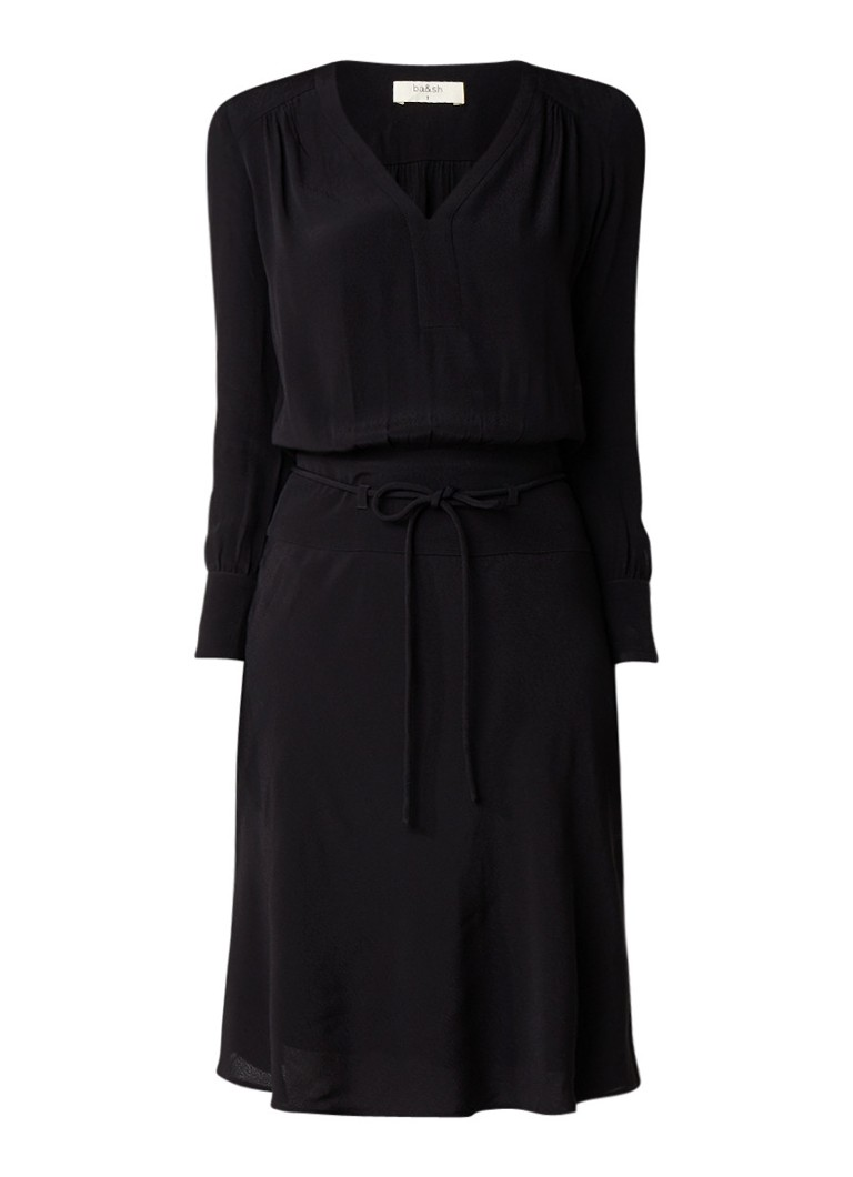 BA&SH Fedora midi-jurk met ceintuur zwart