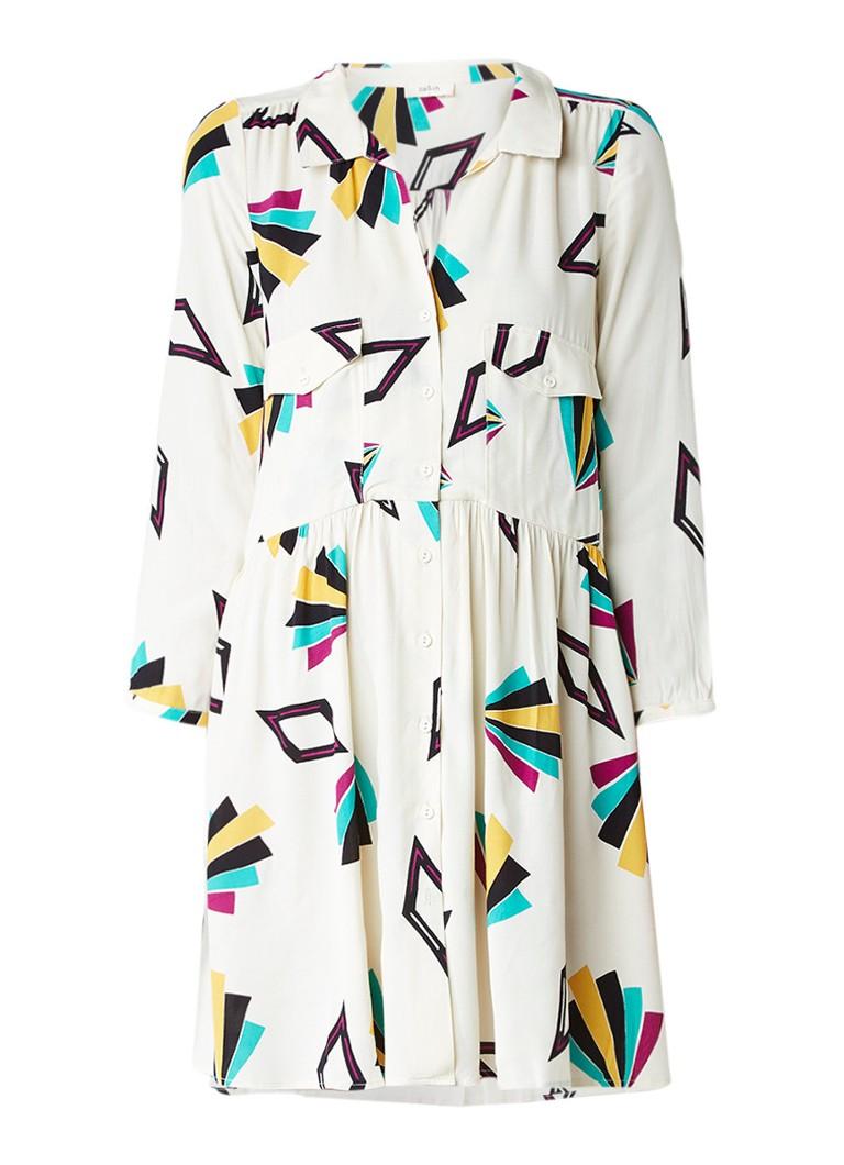 BA&SH Oversized blousejurk met grafische print zwart