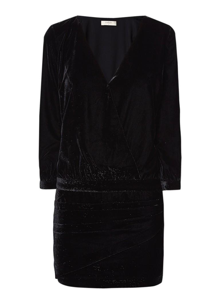BA&SH Opace mini-jurk van fluweel met lurex zwart