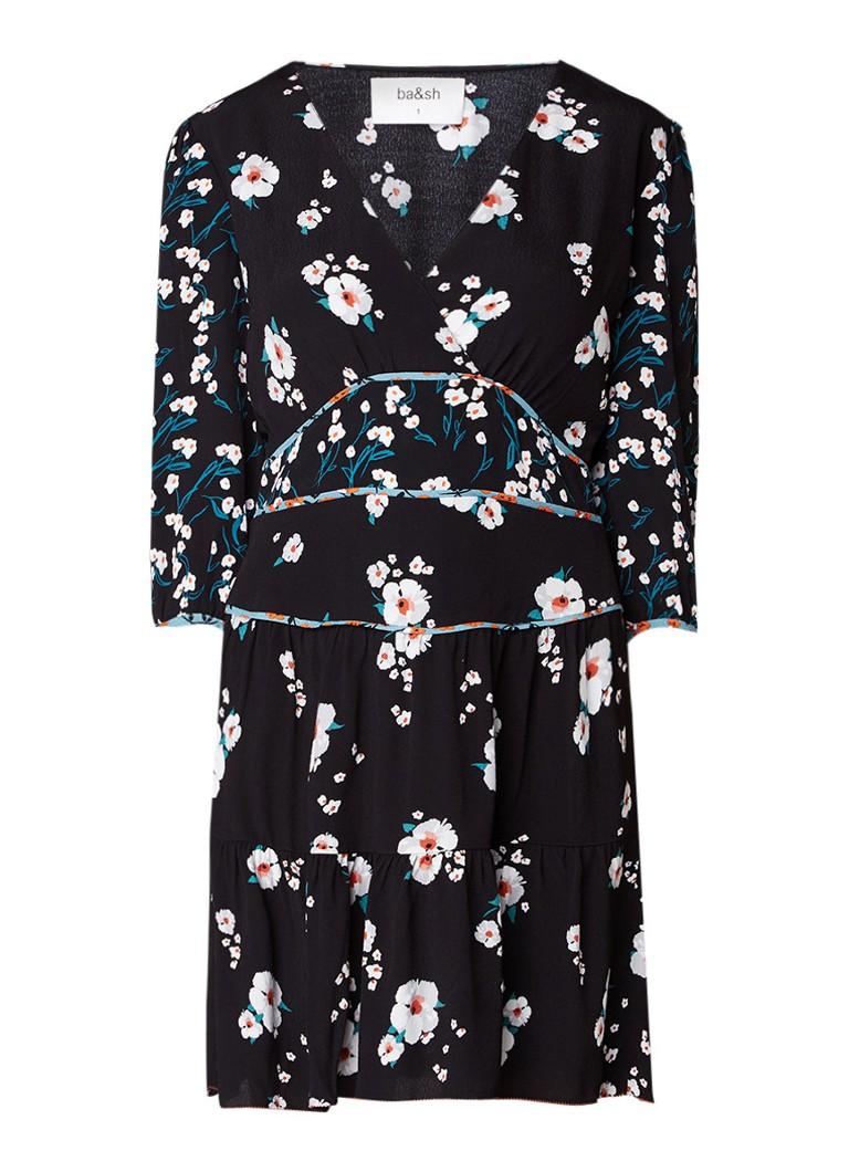 BA&SH Belize mini-jurk met gebloemd dessin creme