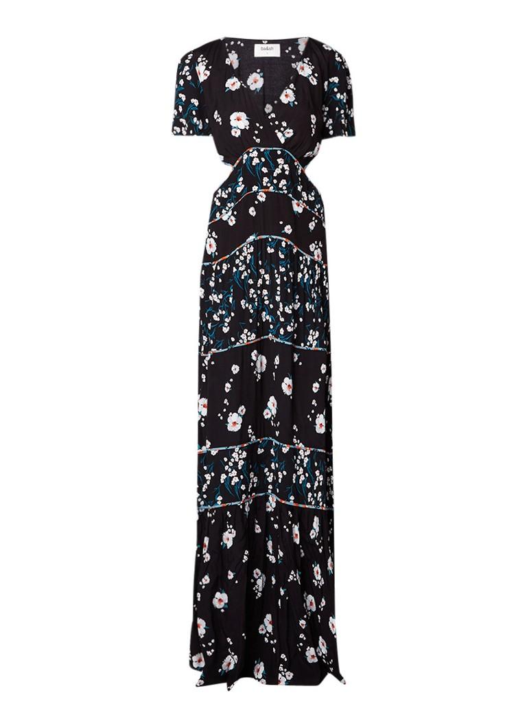 BA&SH Blush maxi-jurk met cut-outs en gebloemd dessin gebroken wit