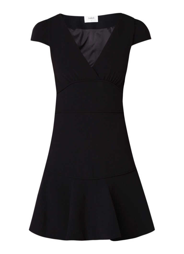 BA&SH Sola A-lijn jurk met V-hals zwart