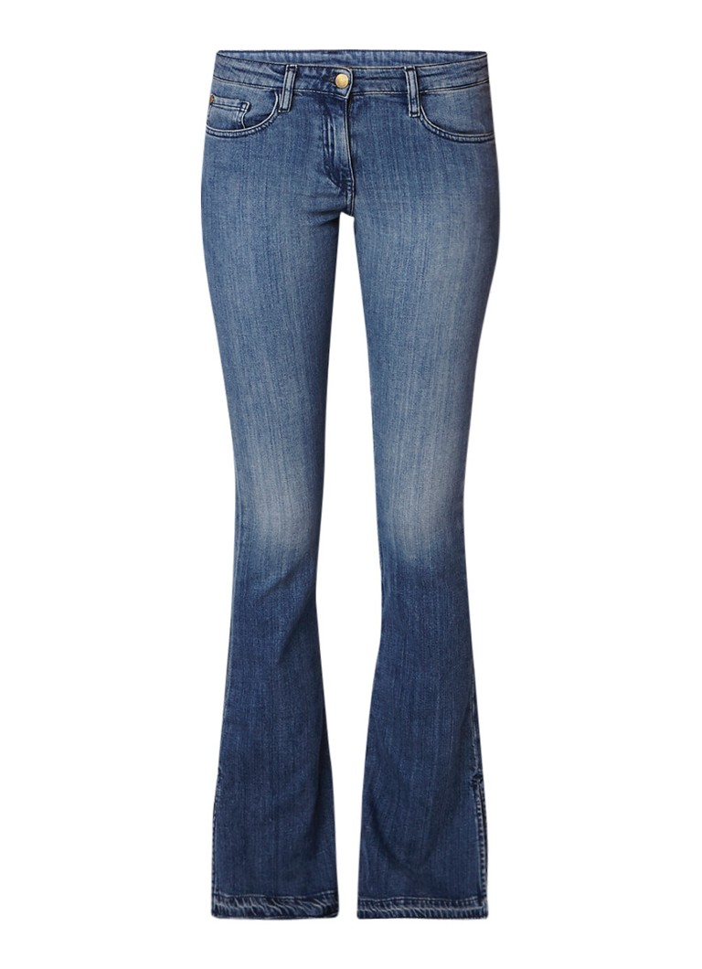 ba and sh Soul low rise flared jeans met gerafelde zoom