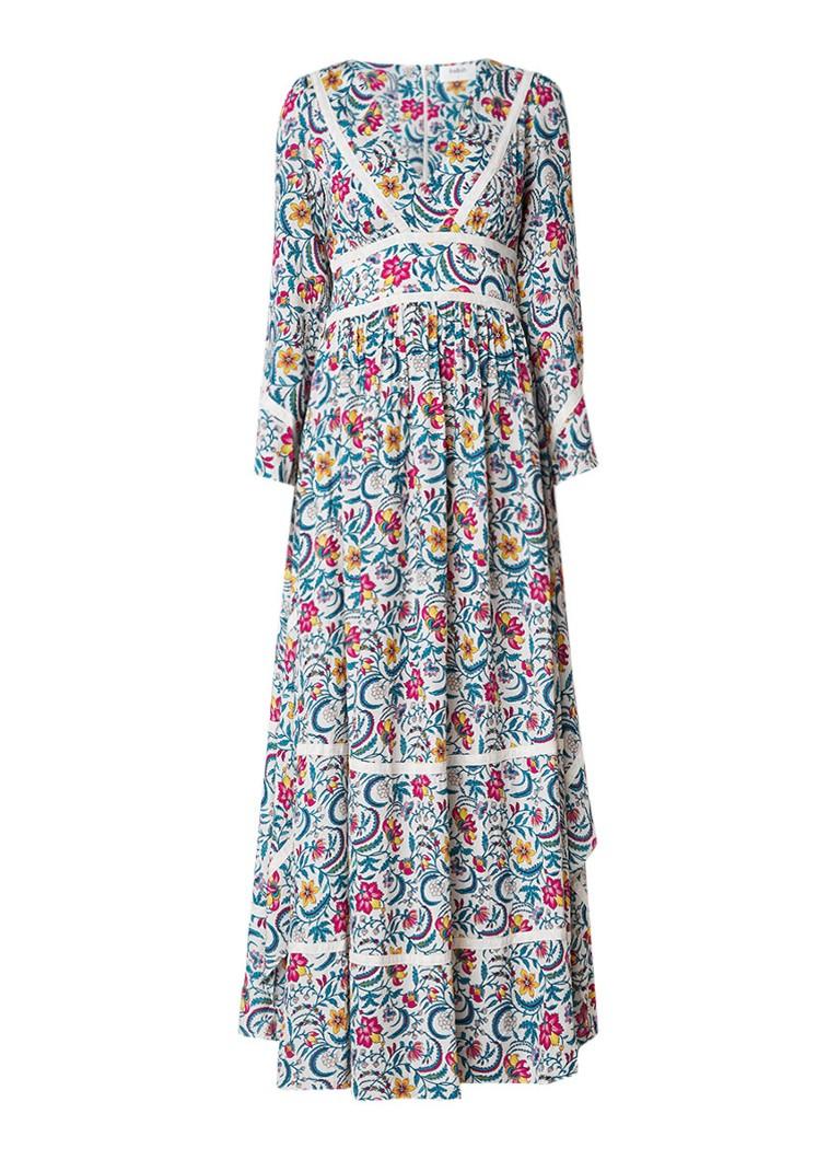 BA&SH Here maxi-jurk met bloemendessin zwart