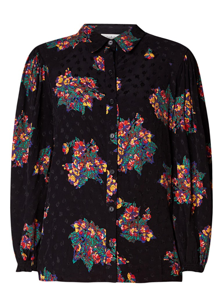 ba and sh Feliz blouse met borduring en bloemenprint