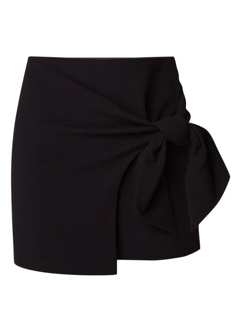 BA&SH Millie mini-rok met wikkellook zwart