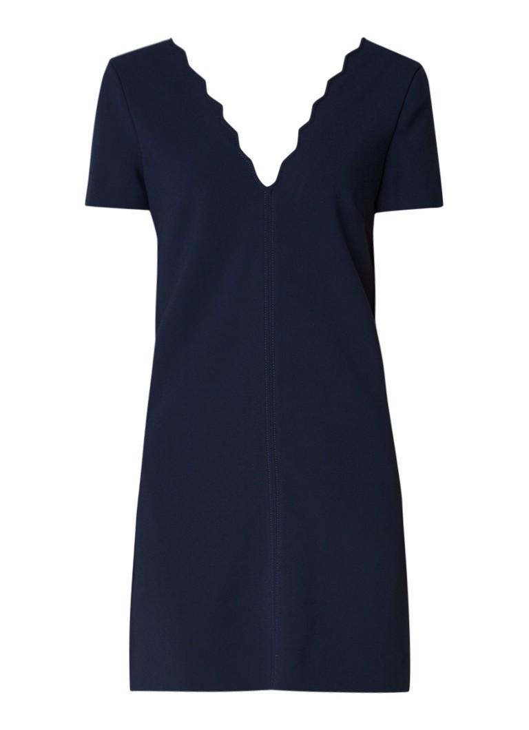 BA&SH Valonia mini-jurk met geschulpte halslijn donkerblauw