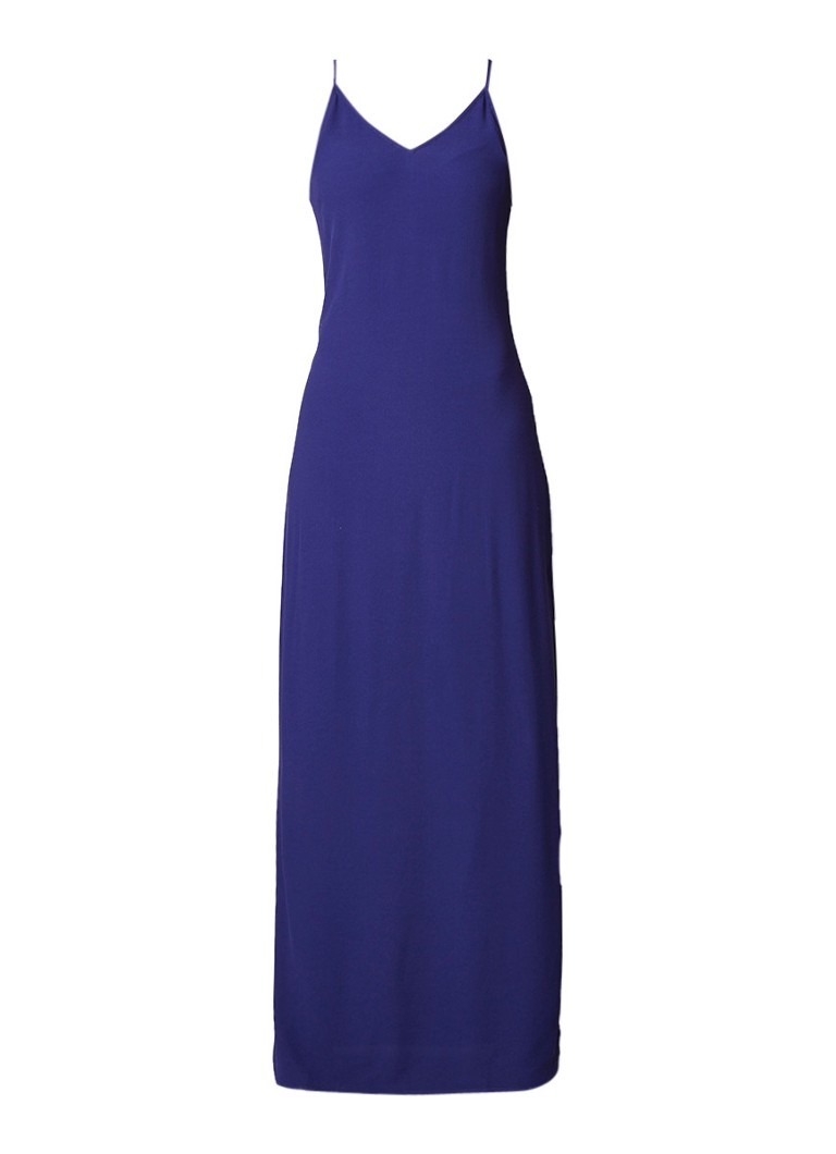 BA&SH Turma maxi-jurk met spaghettibandjes donkerblauw