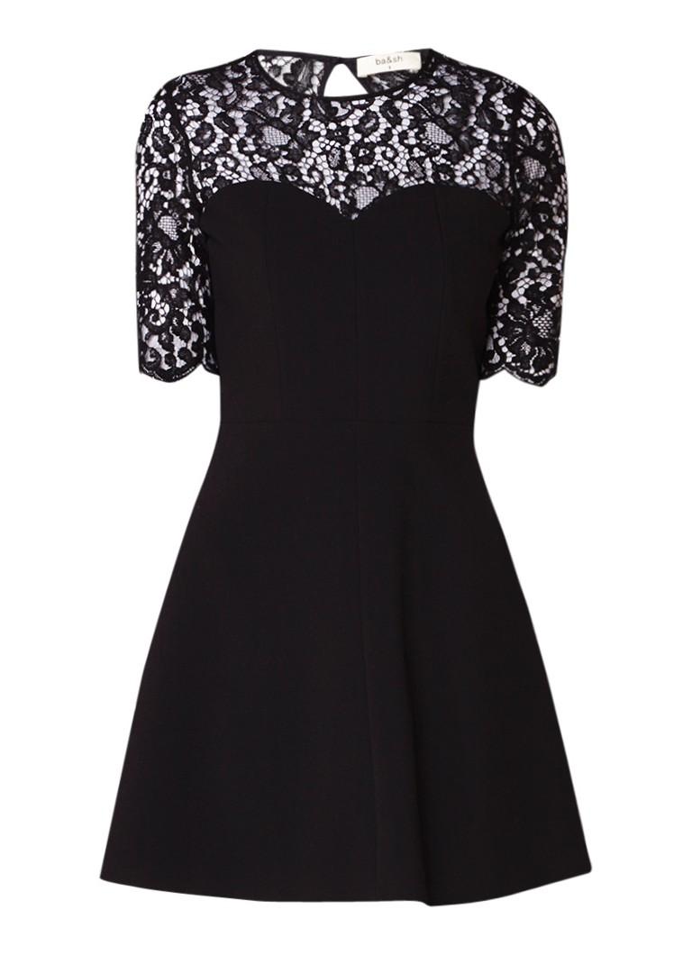 BA&SH A-lijn jurk met kant zwart