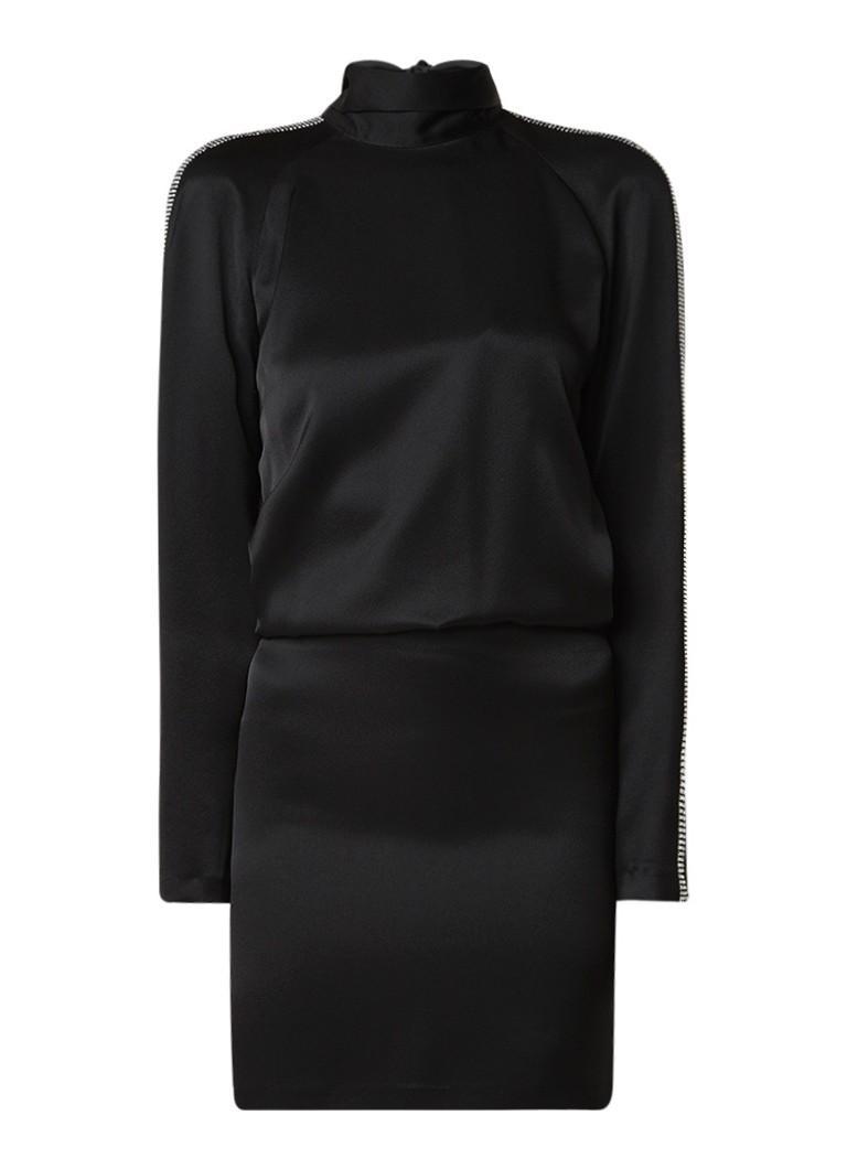 BA&SH Jenni mini-jurk met rugdecolleté en strass zwart