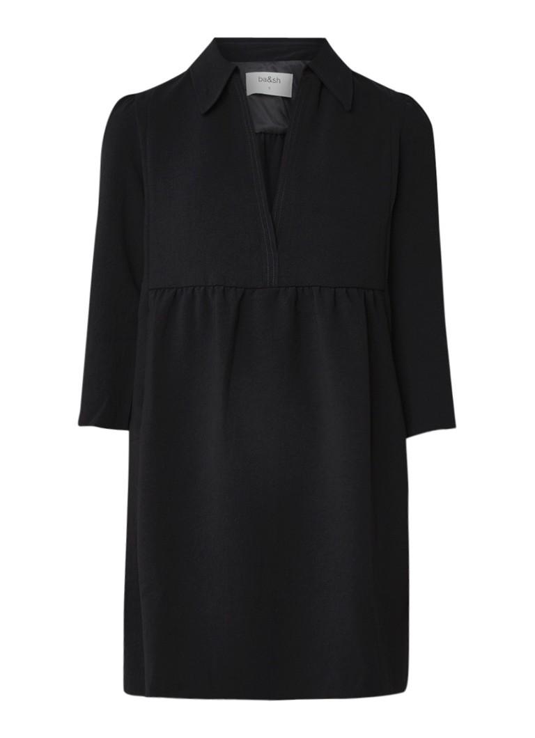 BA&SH Chet mini-jurk van crêpe met V-hals zwart