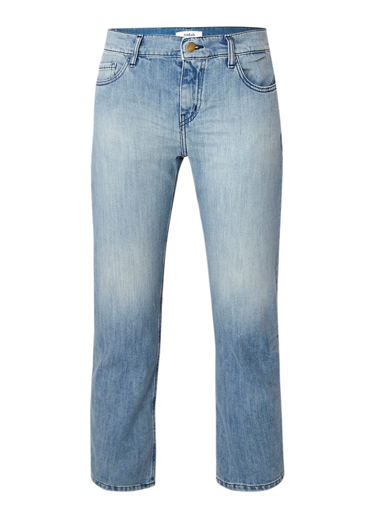 ba and sh Romy mid rise slim cropped fit jeans met stretch