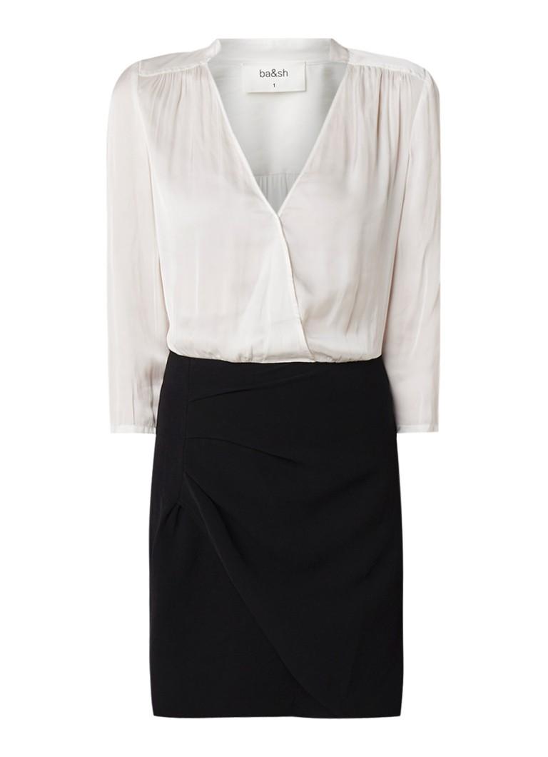BA&SH Doutzen mini-jurk van crêpe met V-hals zwart